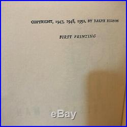 Invisible Man, Ralph Ellison (1952), True First Edition, SIGNED