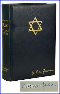 Israel A Personal History SIGNED by DAVID BEN-GURION Limited First Edition