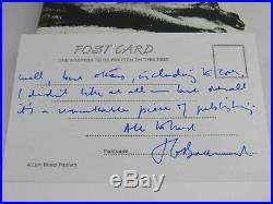 J. G. Ballard The Atrocity Exhibition Signed First UK Edition 1970 & Postcard