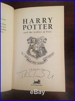 J. K. Rowling Harry Potter And The Goblet Of Fire Signed First Edition 2000
