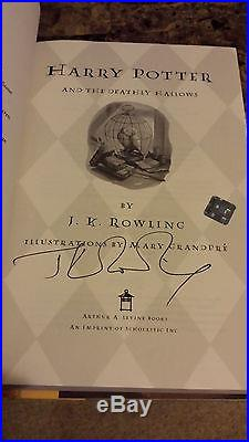 J. K. ROWLING Harry Potter and the Deathly Hallows SIGNED FIRST EDITION Autograph