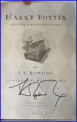 J. K. ROWLING Harry Potter and the Half Blood Prince SIGNED FIRST EDITION
