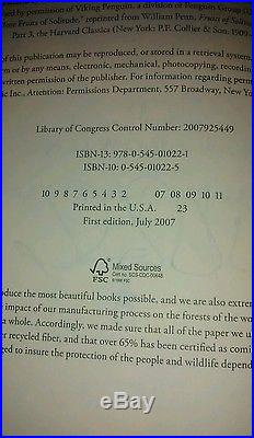 J. K. ROWLING SIGNED FIRST EDITION Harry Potter & the Deathly Hallows withHologram