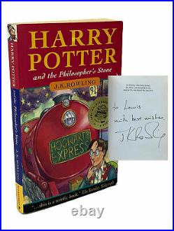 J K Rowling / HARRY POTTER AND THE PHILOSOPHER'S STONE Signed 1st Edition 1997