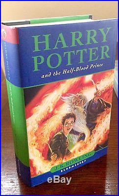 J K Rowling-Harry Potter & Half Blood Prince-Signed & Inscribed first edition