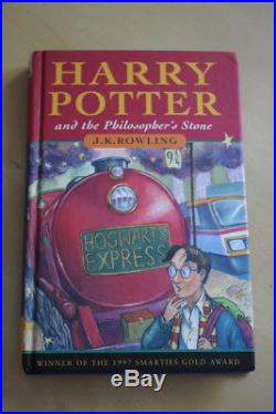 J. K. Rowling'Harry Potter and Philosopher's Stone', SIGNED first edition, 1/4