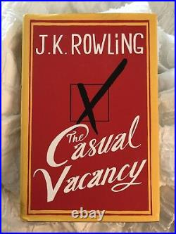 J. K. Rowling Signed The Casual Vacancy, First Edition