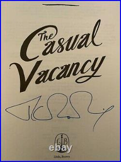 J K Rowling Signed The Casual Vacancy First Edition Hologram Harry Potter