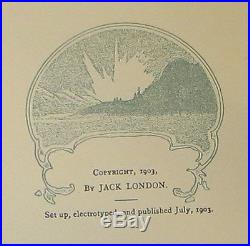 JACK LONDON The Call of the Wild FIRST EDITION WITH SIGNED CHECK