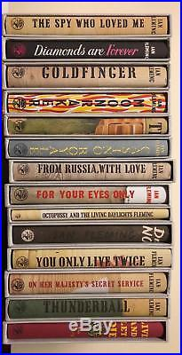 JAMES BOND, Ian Fleming, First Edition Library (FEL), Complete 14 Book Set