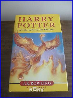 JK Rowling,'Harry Potter Order of Phoenix' SIGNED true first edition, 1st/1st