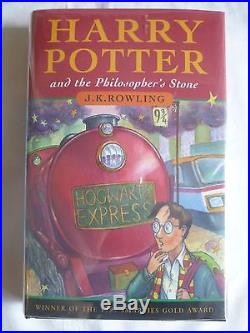 JK Rowling,'Harry Potter and the Philosopher's Stone', SIGNED UK first edition