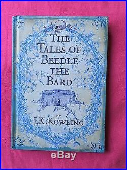 JK Rowling Signed Tales Of Beedle The Bard First Edition Book