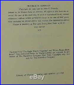 JOHN F. KENNEDY Profiles in Courage INSCRIBED FIRST EDITION