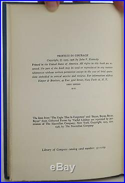 JOHN F. KENNEDY Profiles in Courage SIGNED FIRST EDITION