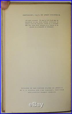 JOHN STEINBECK Of Mice and Men INSCRIBED FIRST EDITION