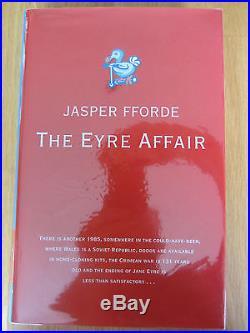 Jasper Fforde The Eyre Affair Signed UK First First Edition HBK