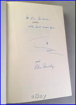 Jaws-Peter Benchley-SIGNED/INSCRIBED with DRAWING-First/1st Edition/Early Printing
