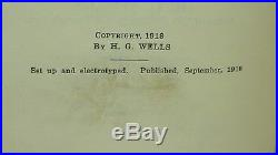 Joan and Peter Signed by H. G. WELLS First Edition 1918 1st Printing