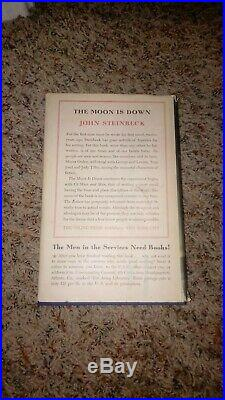 John Steinbeck Signed 1942 Hard Cover First Edition (THE MOON IS DOWN) DJ