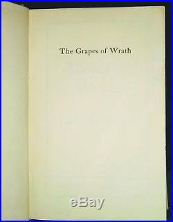 John Steinbeck Signed, First Edition, The Grapes Of Wrath