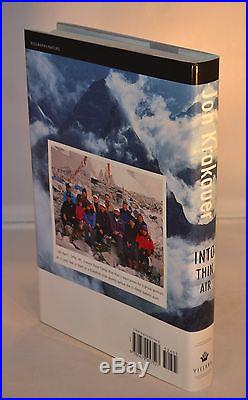 Jon Krakauer SIGNED & Inscribed Into Thin Air First Edition Mount Everest