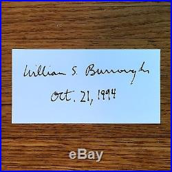 Junkie, William S. Burroughs. Signed First Edition, 1st Printing