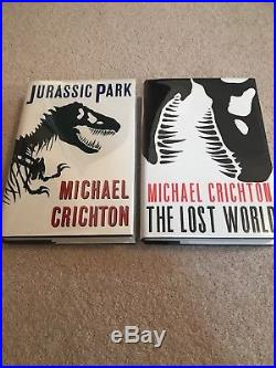 Jurassic Park Lost World Signed First Editions Mint Michael Crichton