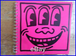 KEITH HARING Original Drawing 1982 First Edition 1/2000 Spiral-Bound Hot Pink