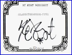 KURT VONNEGUT SIGNED SLAUGHTERHOUSE-FIVE First Edition, FIRST Printing
