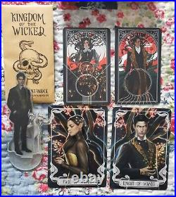 Kingdom of the Wicked 1st edition signed bookplate with Fairyloot tarot cards