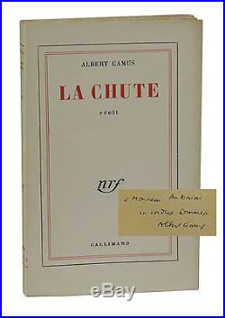 La Chute SIGNED by ALBERT CAMUS True First French Edition The Fall 1956 1st