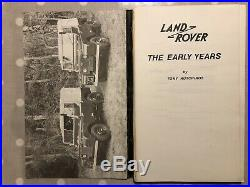 Land Rover-The Early Years Tony Hutchings- 1982 Signed First Edition Series 1