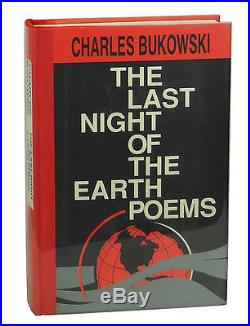 Last Night of the Earth Poems CHARLES BUKOWSKI SIGNED First Edition & Print 1992