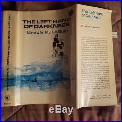 Left Hand of Darkness Ursula K. LeGuin First edition 1st Printing Orig DJ SIGNED