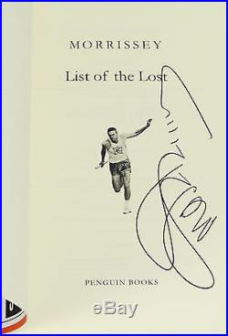 List of the Lost by MORRISSEY SIGNED First Edition 2015 The Smiths Singer 1st