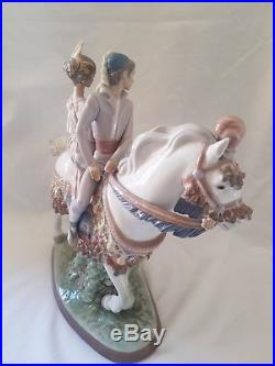 Lladro Valencian couple on Horseback 1472, Limited Edition, First, Signed