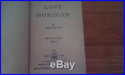 Lost Horizon Signed James Hilton First Edition