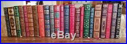 Lot of 23 Franklin Library Signed First Edition Society, Full Leather Covers