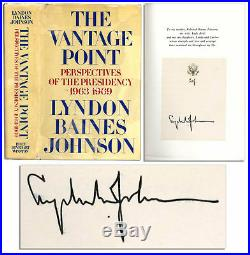 Lyndon B. Johnson Signed The Vantage Point 1st Edition