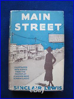 MAIN STREET SIGNED by SINCLAIR LEWIS First Edition, First Issue