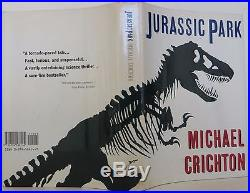 MICHAEL CRICHTON Jurassic Park INSCRIBED FIRST EDITION