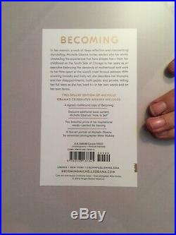 MICHELLE OBAMA SIGNED BECOMING DELUXE EDITION Book Autographed Withcoa 1st Edition