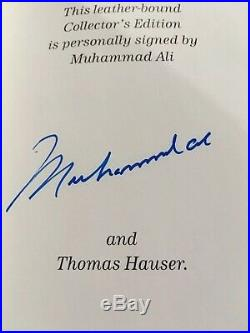 MUHAMMAD ALI HIS LIFE AND TIMES SIGNED COLLECTOR 1st EDITION HAUSER EASTON PRESS