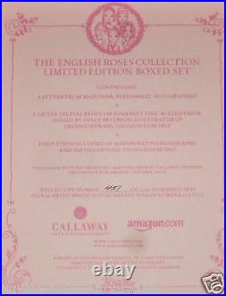Madonna Hand Signed Autographed The English Roses L/edition 1st Ed Box Set! Rare