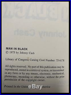 Man In Black SIGNED by JOHNNY CASH His Story Hardback 1st Edition First Print
