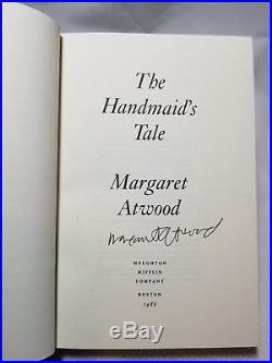 Margaret Atwood Signed Hardcover First Edition The Handmaid's Tale