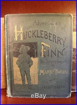 Mark Twain First Edition Set Collection Signed 1867-1949 Huckleberry Finn Rare