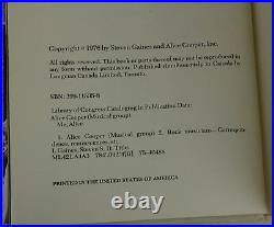 Me, Alice SIGNED by ALICE COOPER First Edition 1st Print 1976 Steven Gaines