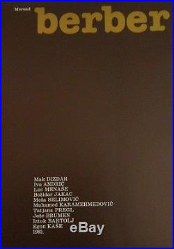Mersad Berber SIGNED/First Edition Yugoslavia Hardcover